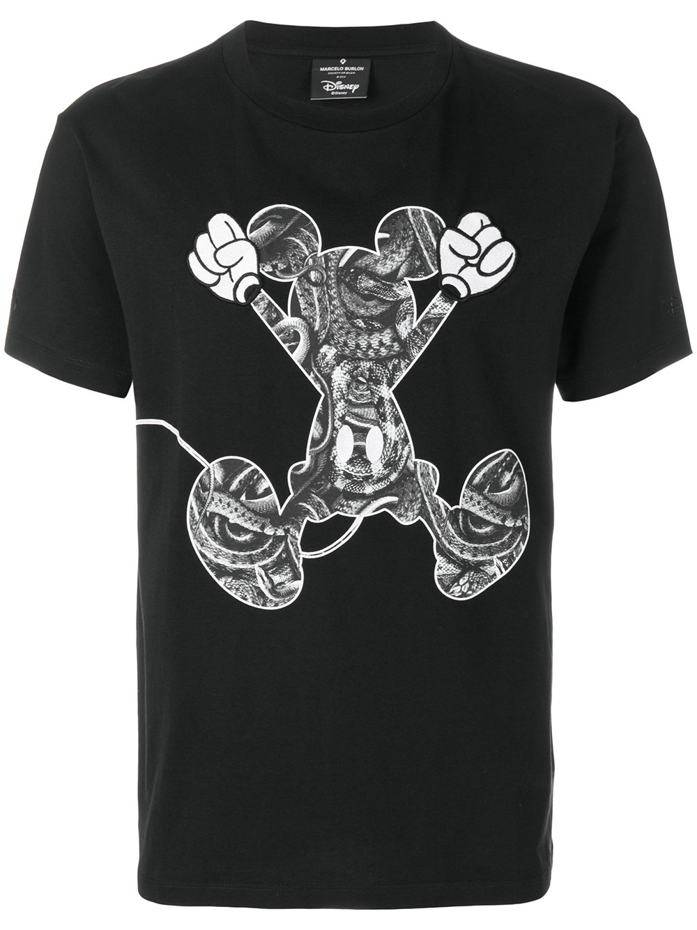 Marcelo Burlon Man MICKEY MOUSE JUMP T-SHIRT BLACK MULTICOL