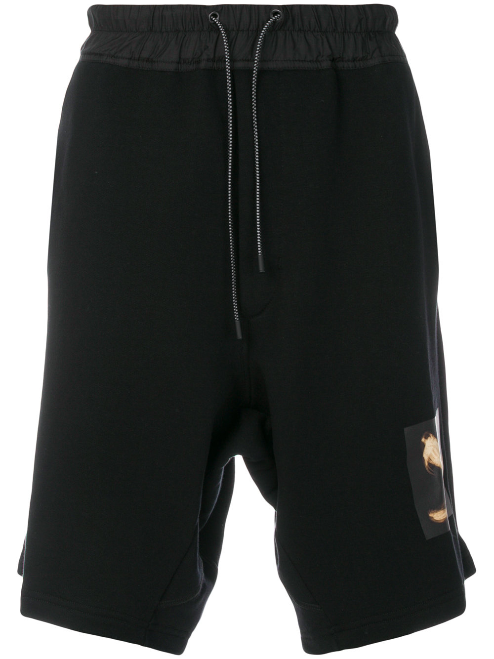 Marcelo Burlon Man SNAKE FACE SHORTS BLACK MULTICOLOR