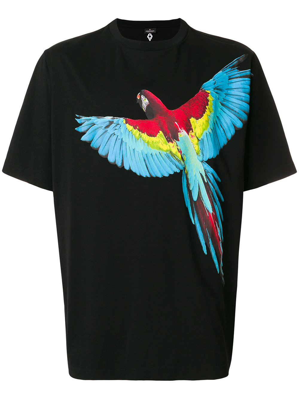 Marcelo Burlon Man PARROT T-SHIRT BLACK MULTICOLOR