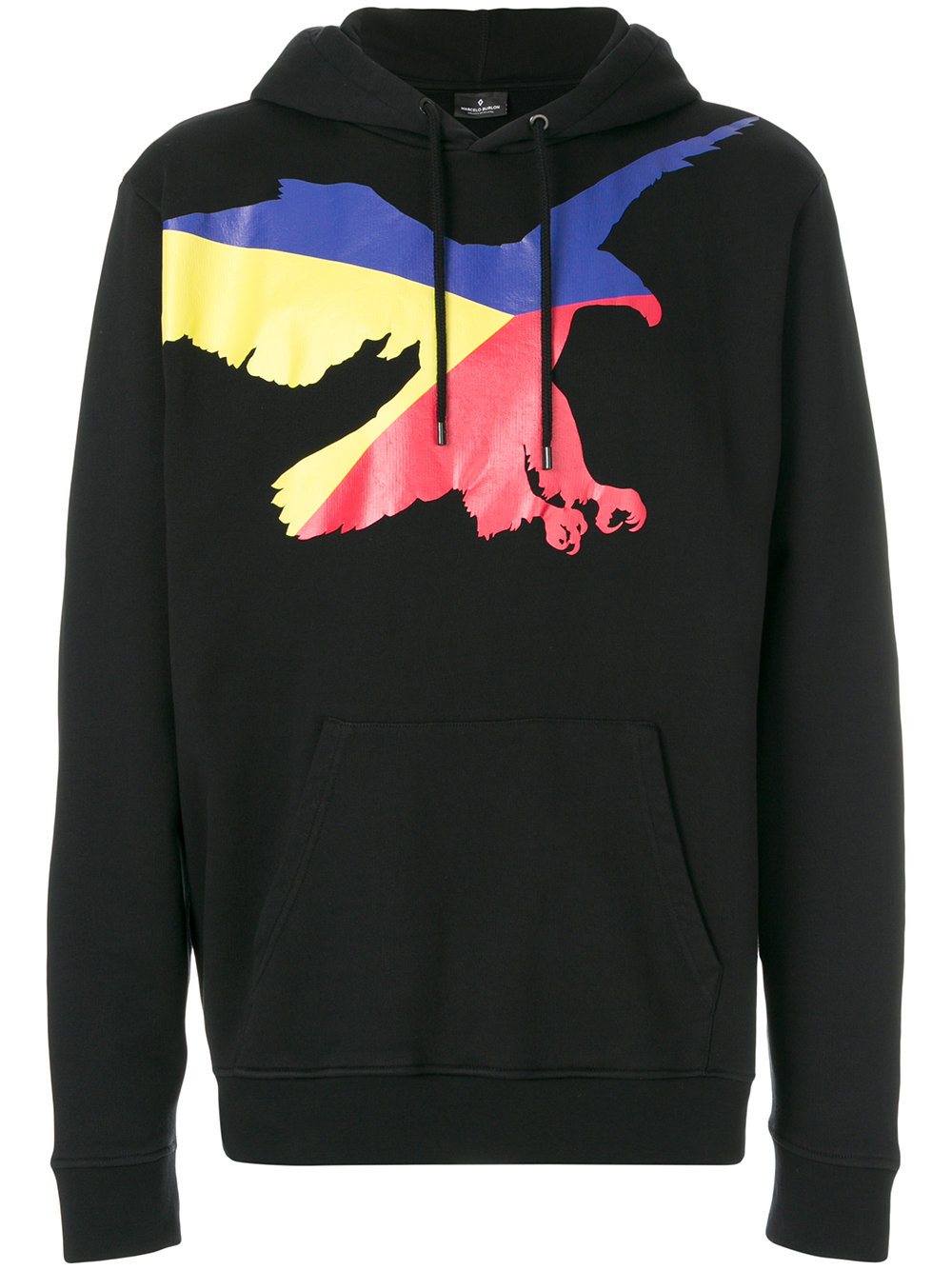 Marcelo Burlon Man EAGLE HOOD BLACK MULTICOLOR