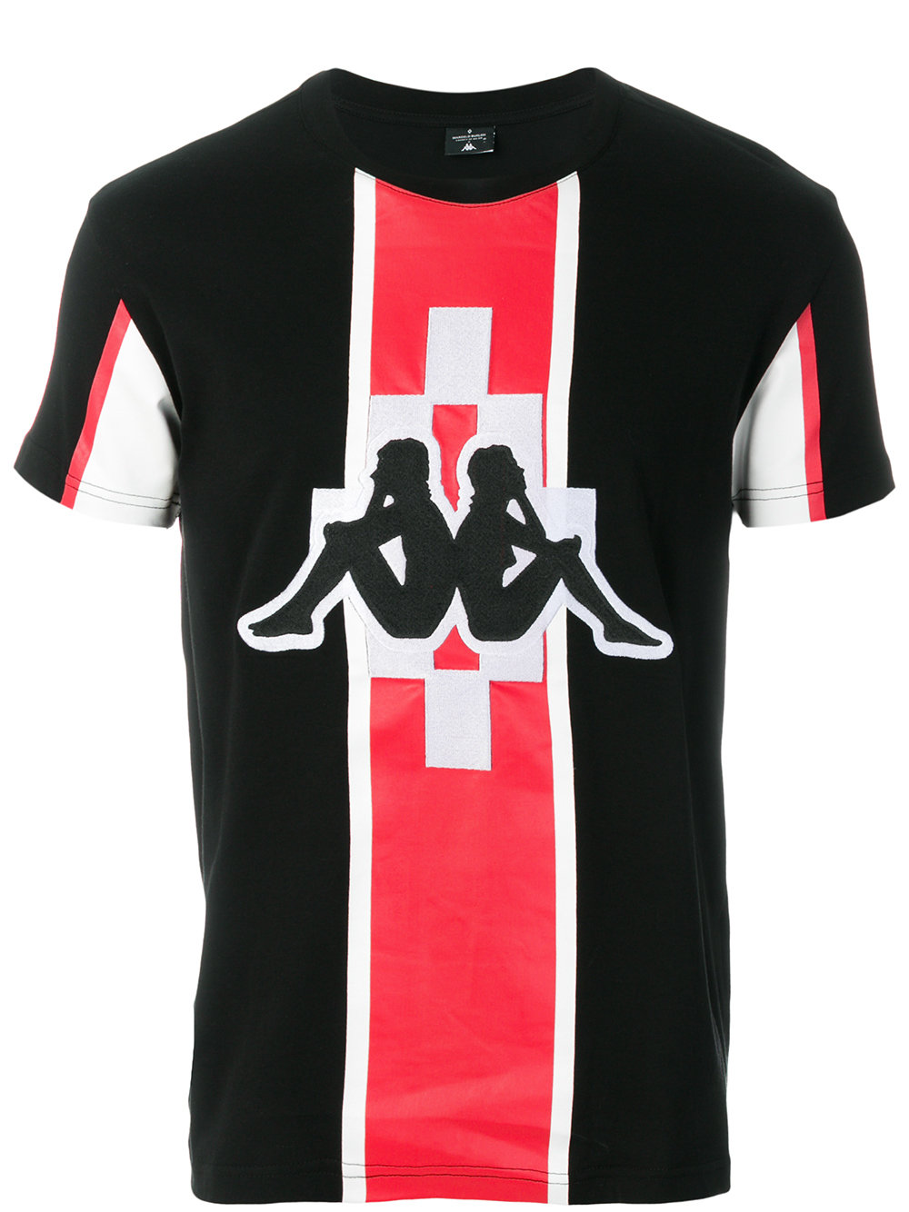Marcelo Burlon Man KAPPA STRIPE T-SHIRT BLACK RED