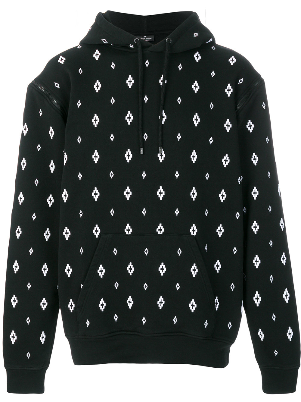 Marcelo Burlon Man CROSS HOOD BLACK WHITE