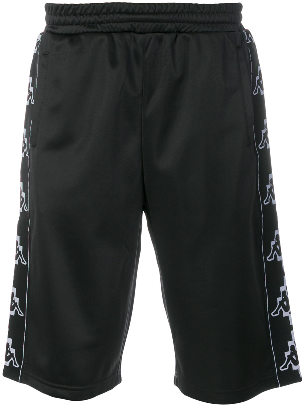 Marcelo Burlon Man KAPPA TAPE SHORTS BLACK WHITE