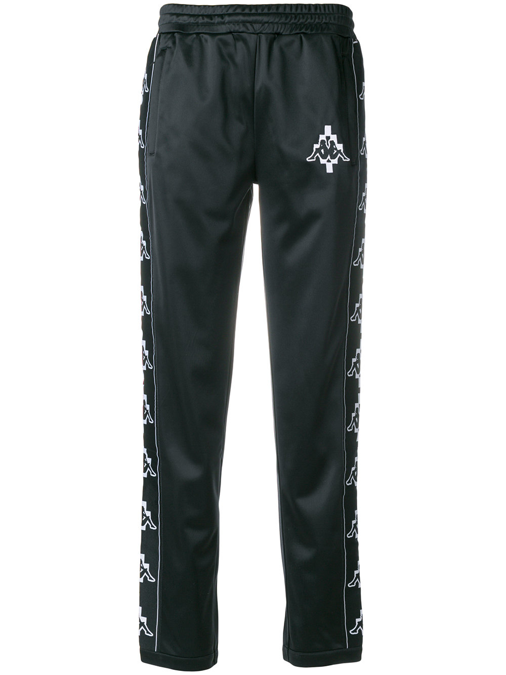 Marcelo Burlon Man KAPPA TAPE PANT BLACK WHITE