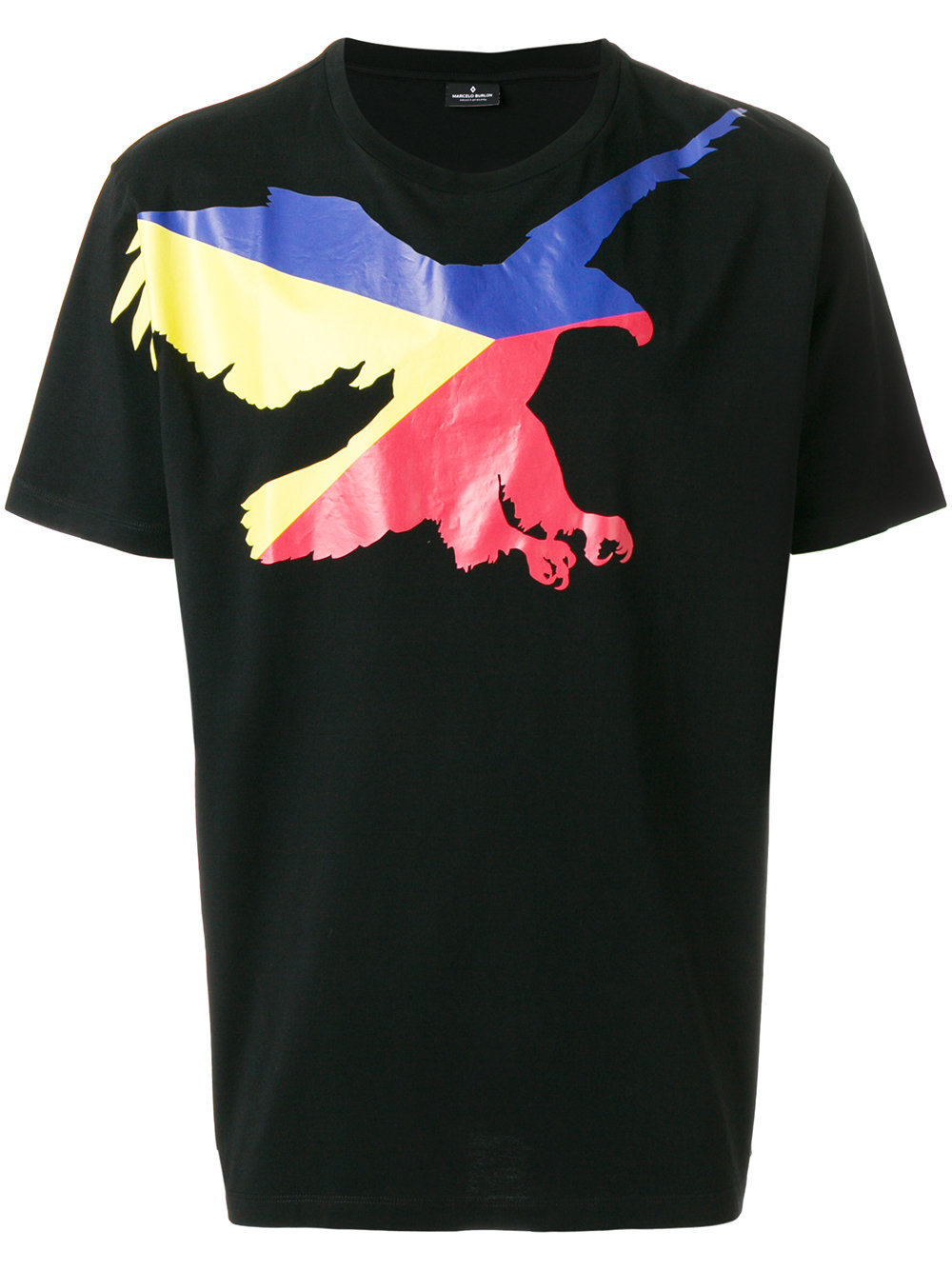 Marcelo Burlon Man EAGLE T-SHIRT BLACK MULTICOLOR