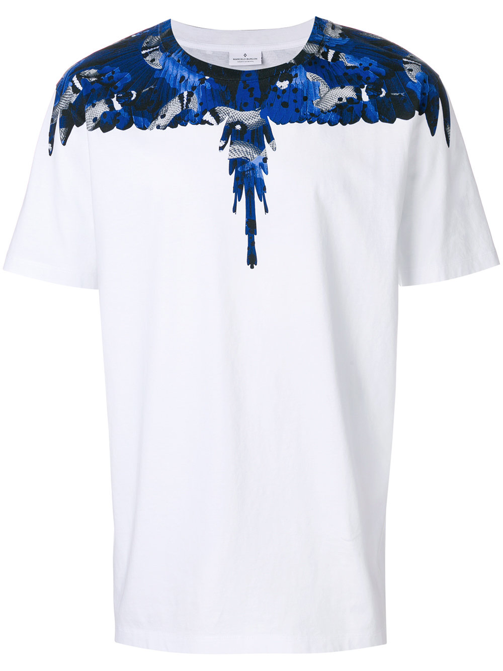 Marcelo Burlon Man CAMOU WING T-SHIRT WHITE BLUE
