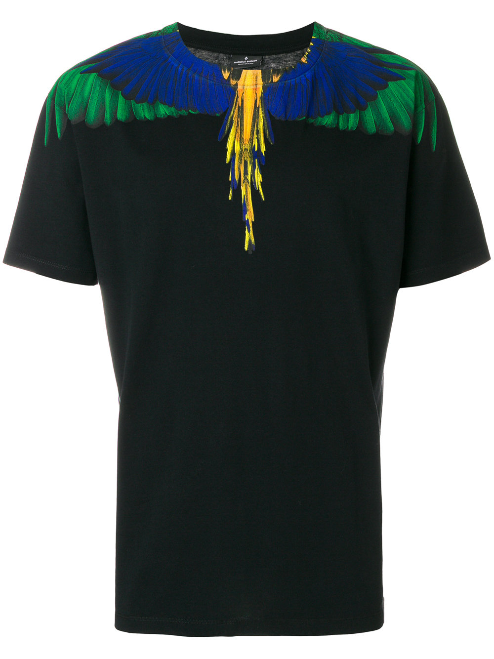 Marcelo Burlon Man COLOR WING T-SHIRT BLACK MULTICOLOR