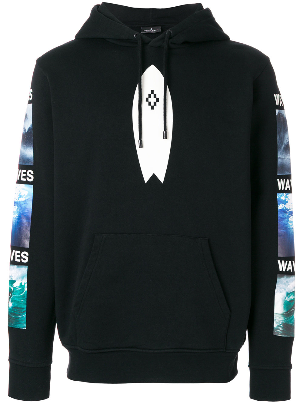 Marcelo Burlon Man SURF HOOD BLACK MULTICOLOR