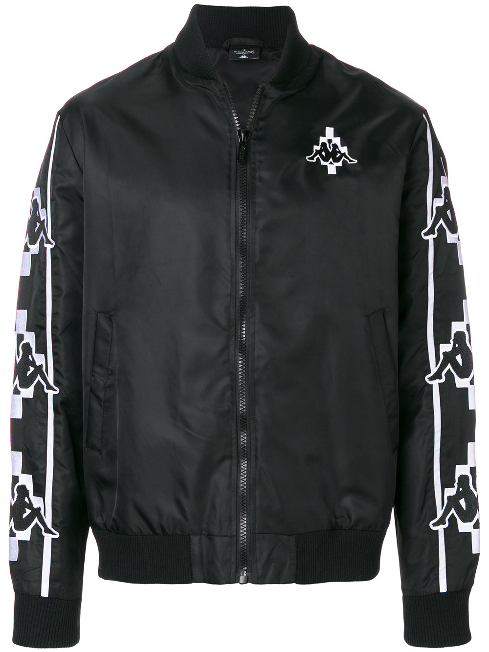 Marcelo Burlon Man KAPPA TAPE BOMBER BLACK WHITE