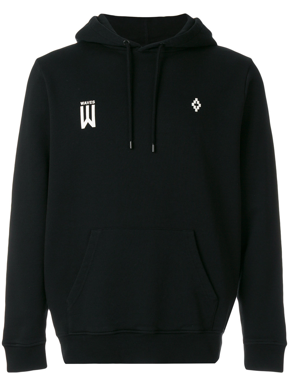 Marcelo Burlon Man WAVES HOOD BLACK MULTICOLOR