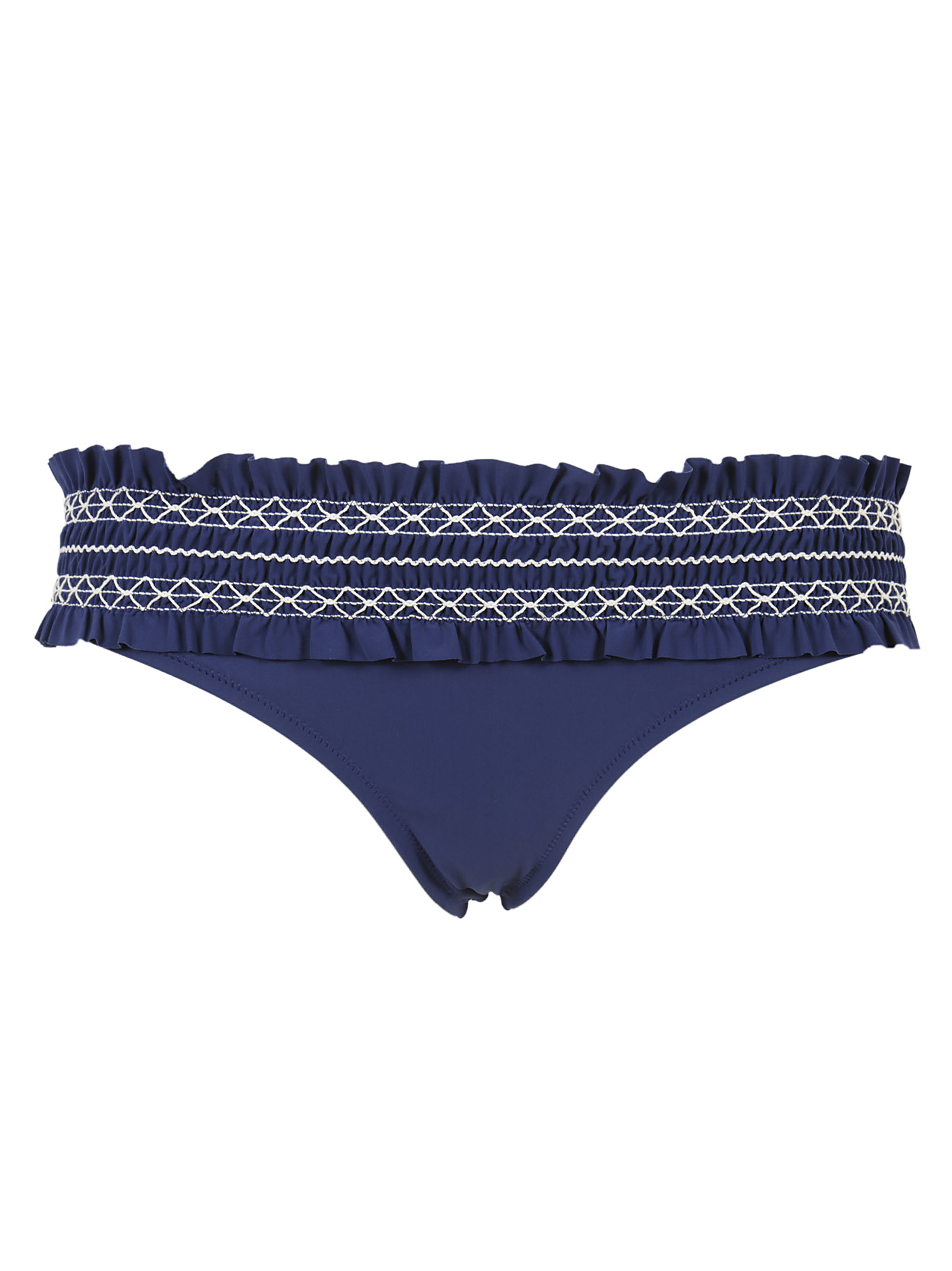 Tory Burch Blue ruffled bikini bottoms