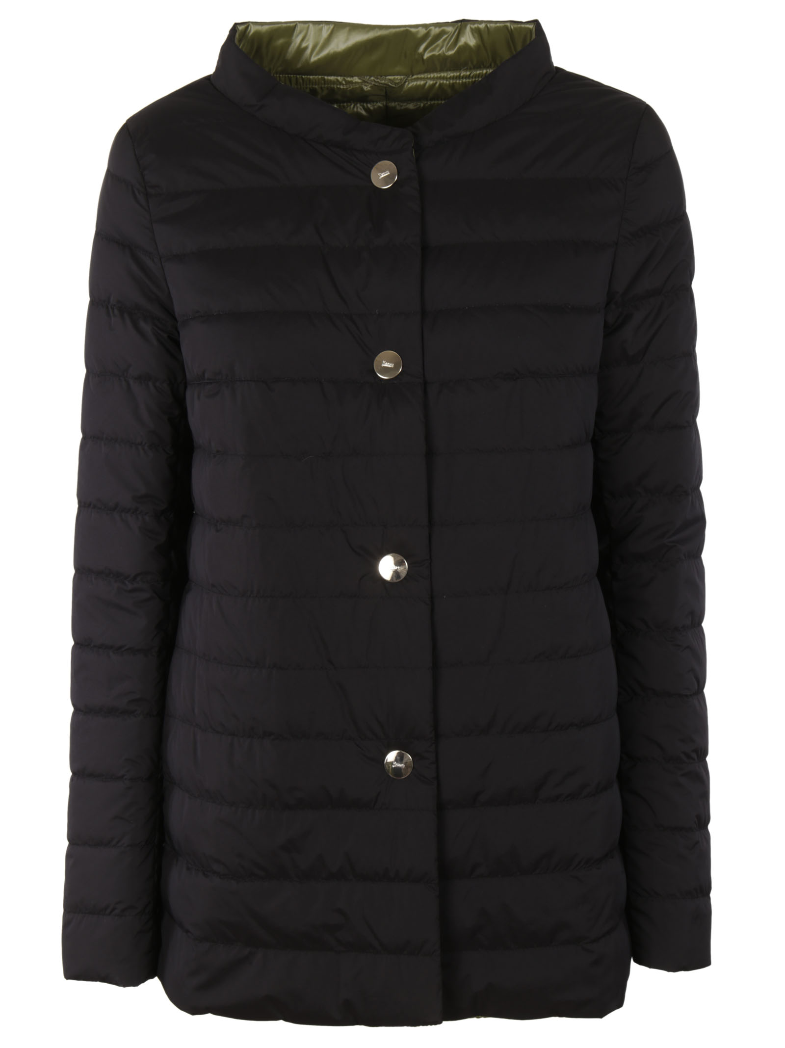 Herno Long sleeved quilted jacket