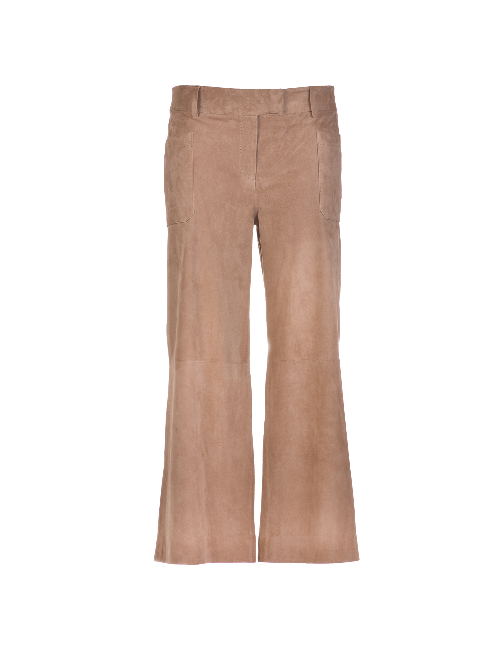True Royal True Royal Suede Palazzo Trousers
