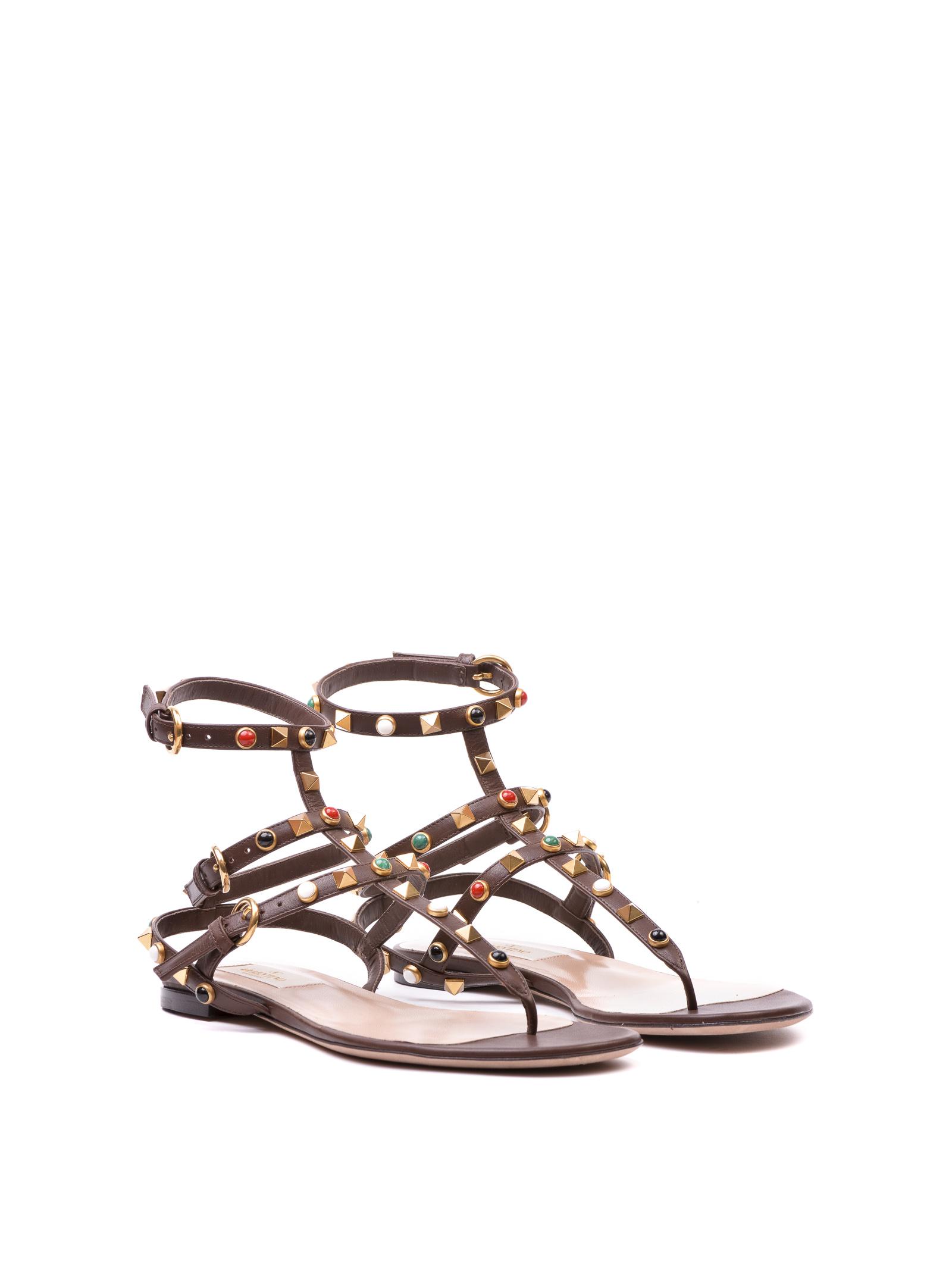 Valentino Garavani Valentino Garavanni Rock Stud Rolling Sandals