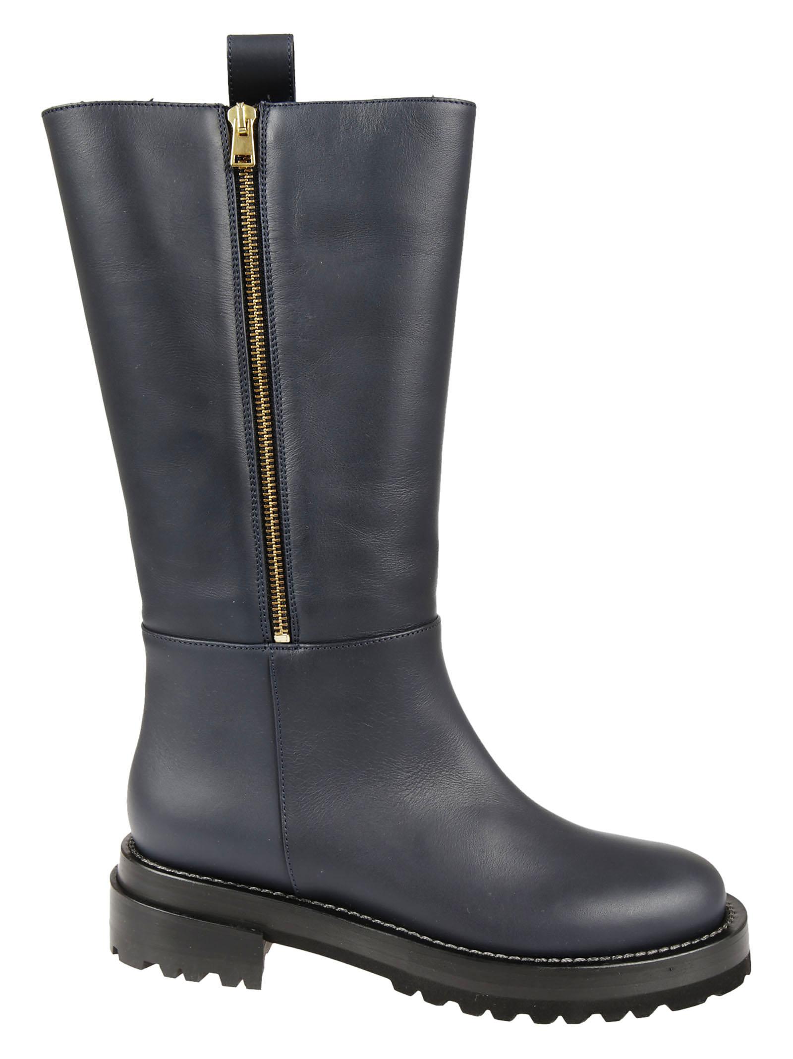 Marni Marni Tail Leather Biker Boots