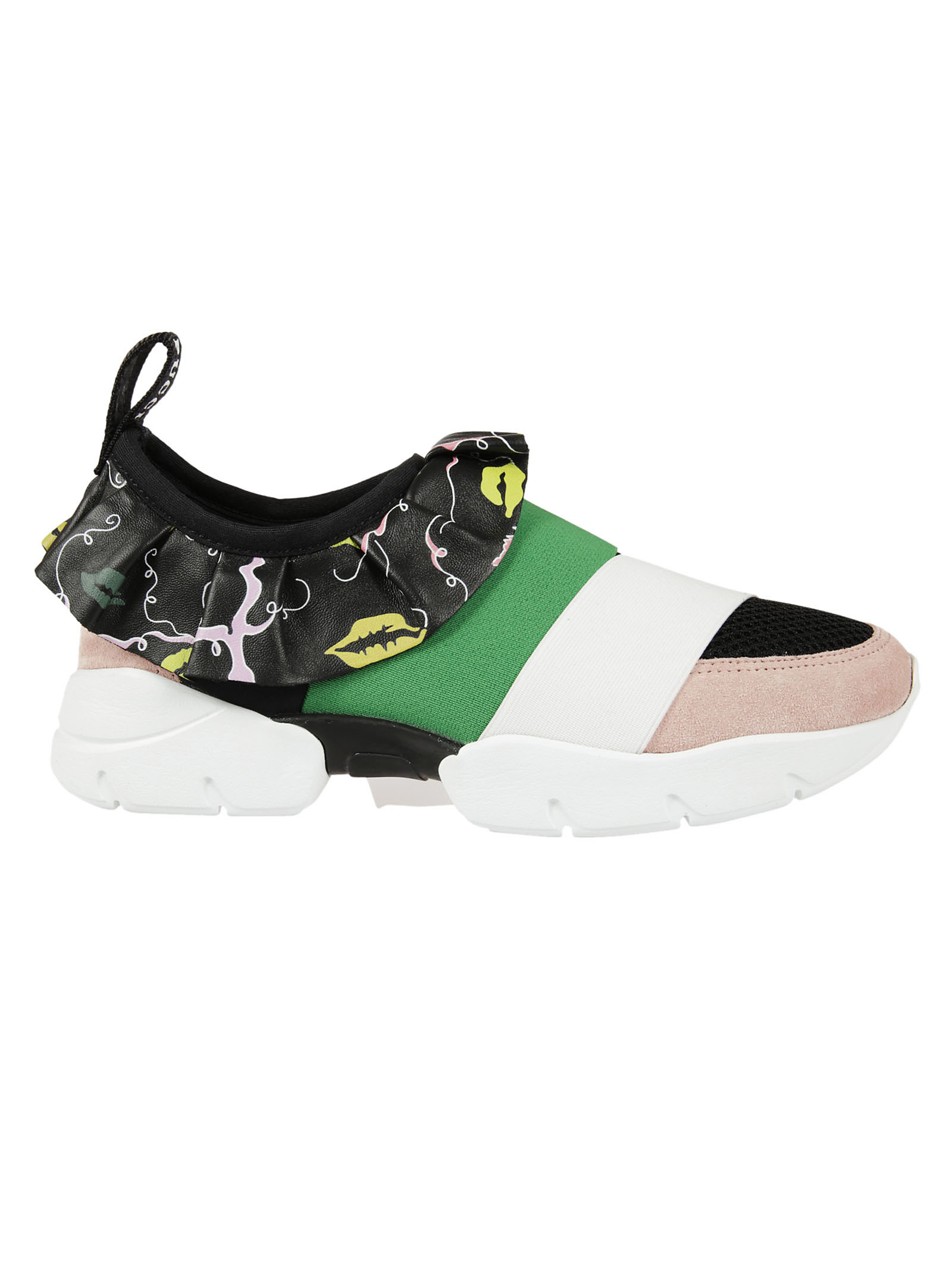 Emilio Pucci Emilio Pucci Ruffled Detail Sneakers