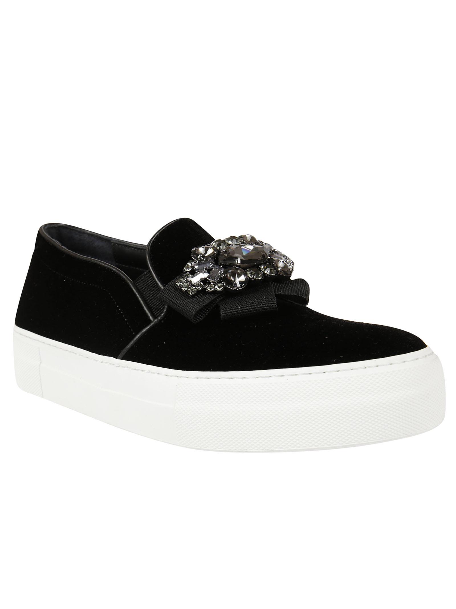 Anna F. Anna F Diamond Embellished Slip-On Sneakers