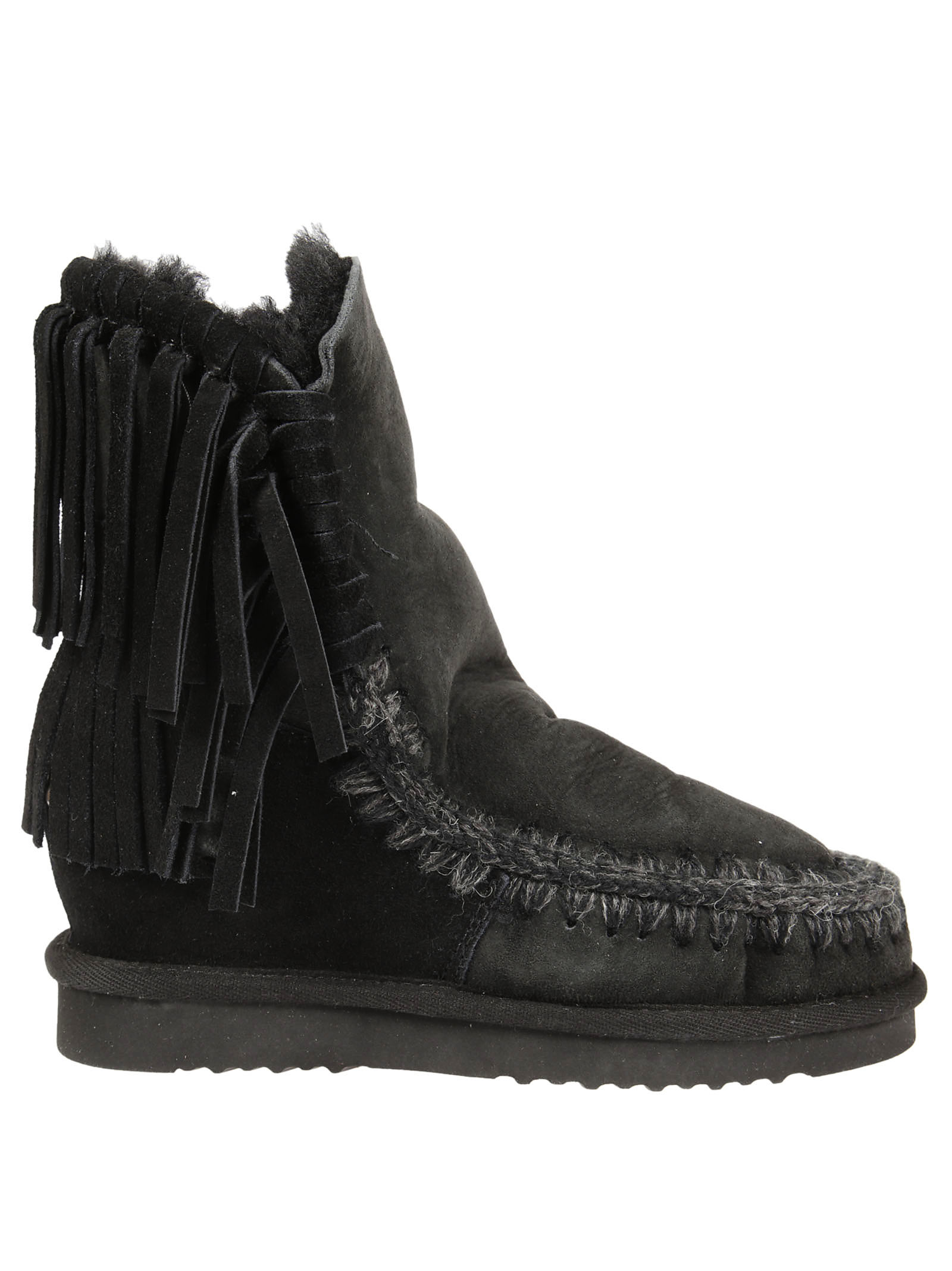 Mou Mou Fringed Ankle Boots