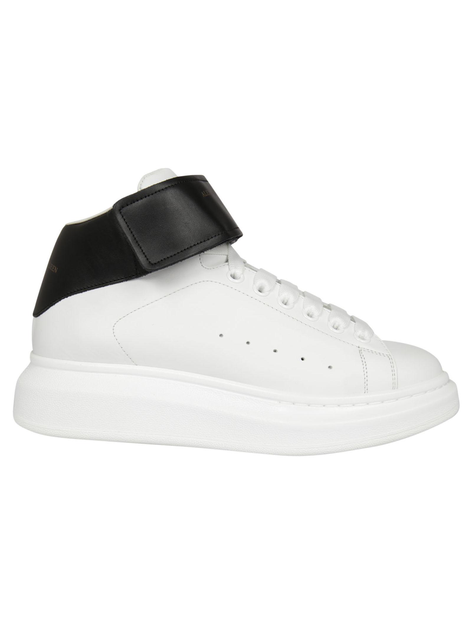 Alexander McQueen Alexander McQueen Velcro Strap Hi-Top Sneakers