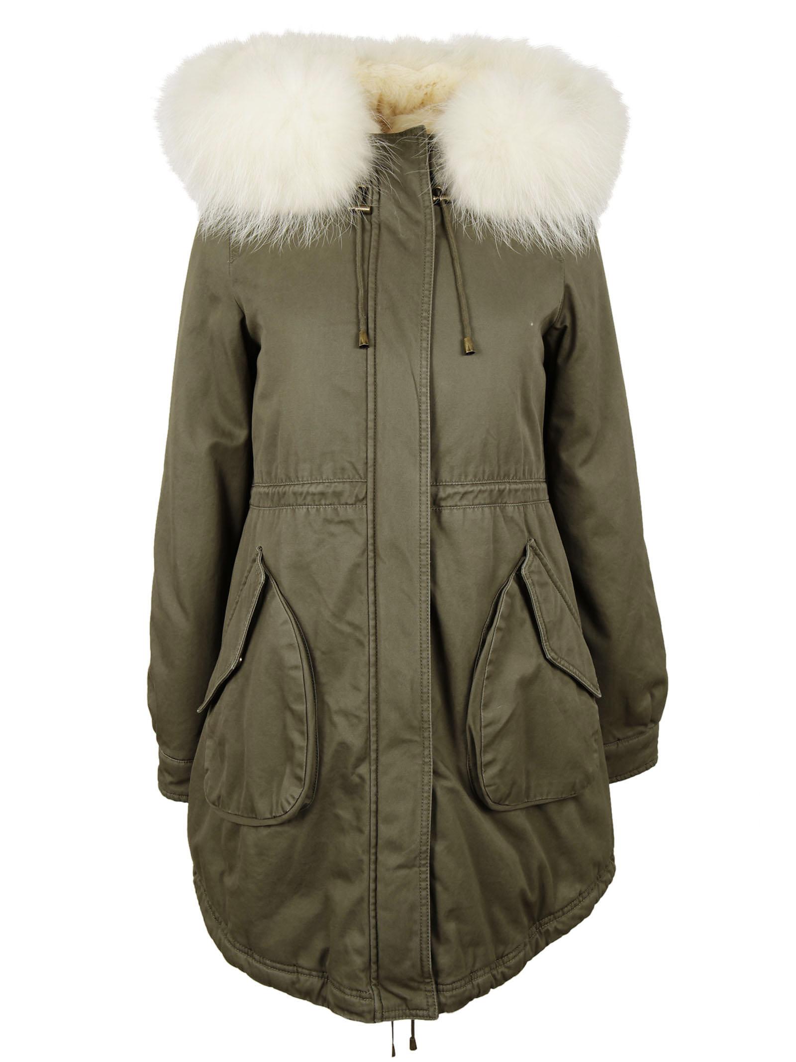 Alessandra Chamonix Alessandra Chamonix Fur Detail Parka
