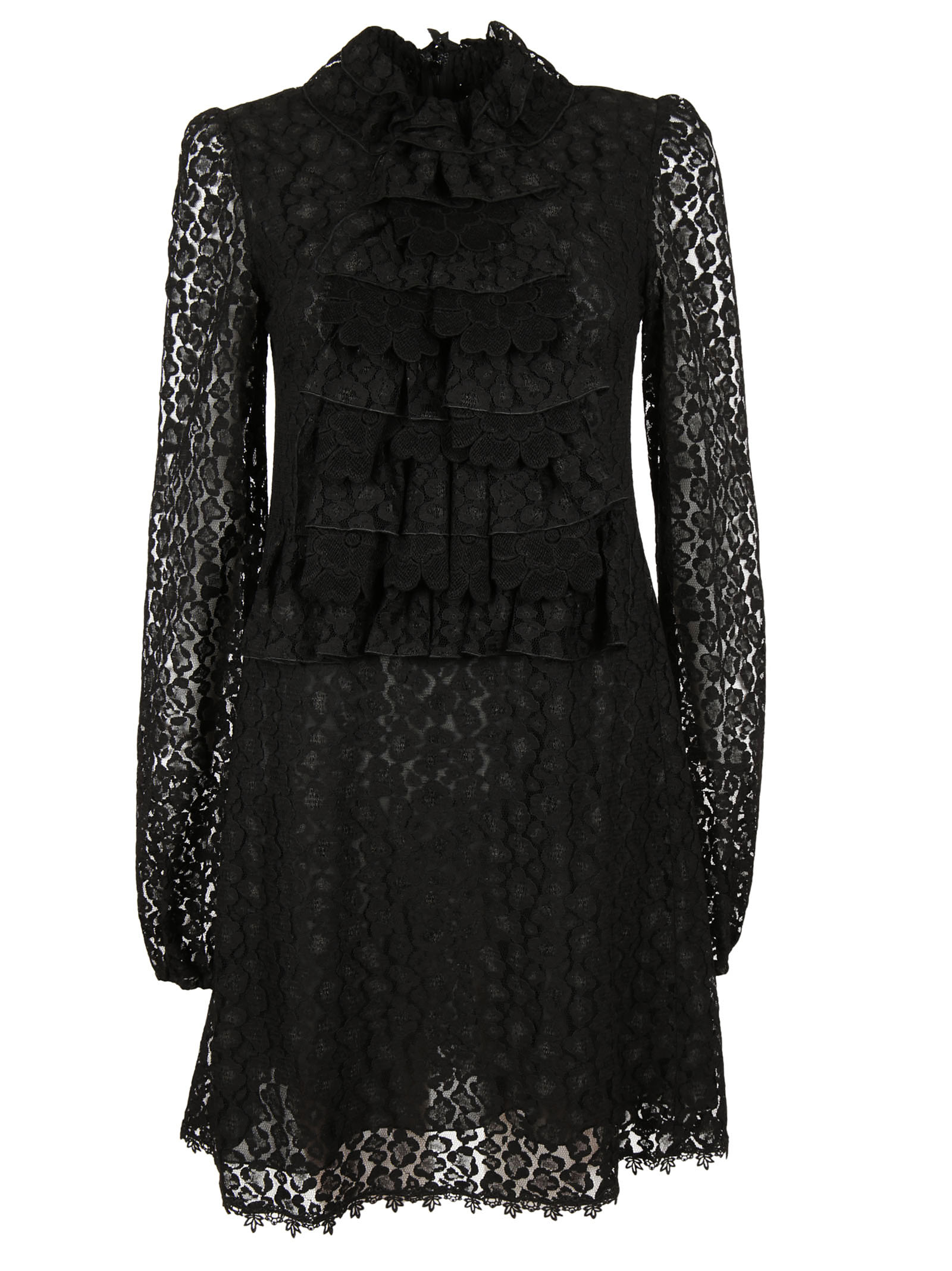 Giamba Giamba Ruffled Lace Dress