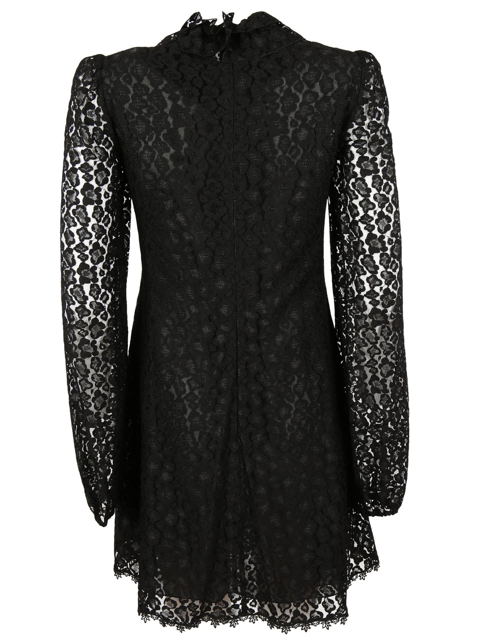 Giamba Giamba Ruffled Lace Dress