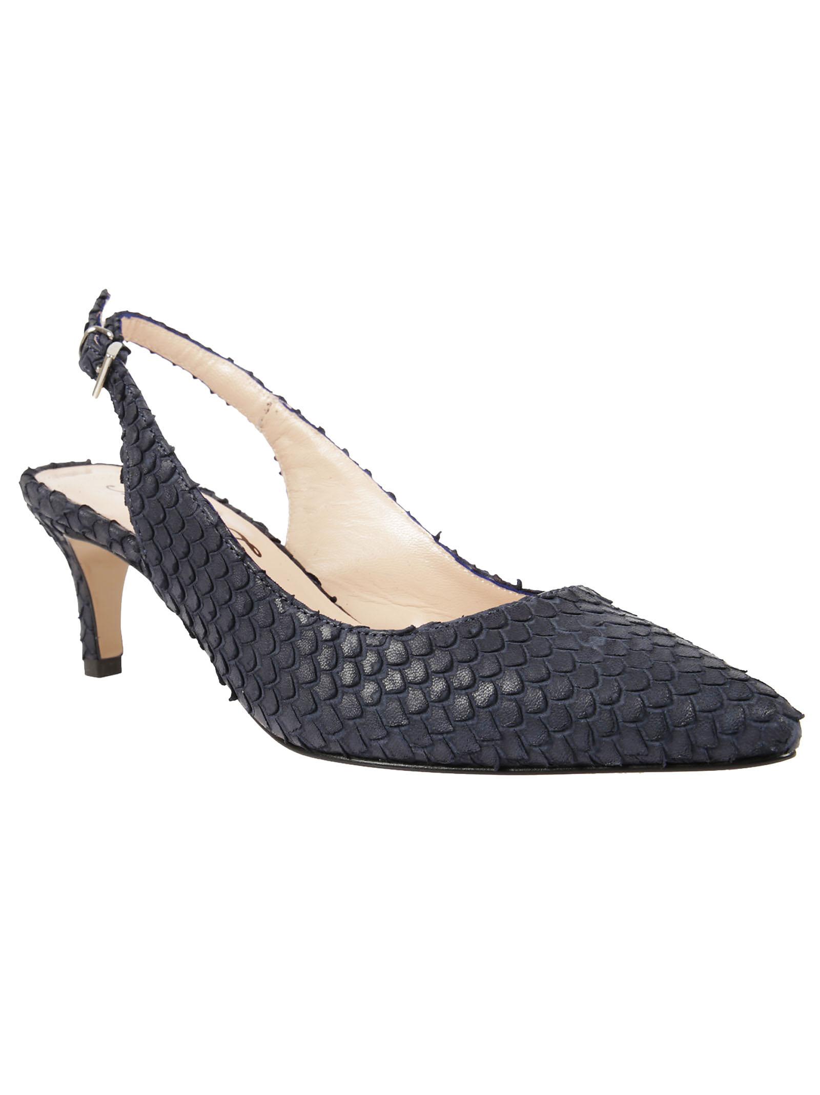 Anna F. Anna F Python Detail Sandals